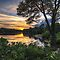 The Sunset over Hopedale Pond by John Davenport