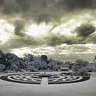 Werribee Mansion - Ext IR The Garden by lightsmith