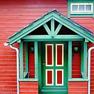 Colourful frontporch in Ulvik - Norway by Arie Koene