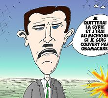 Assad en caricature des infos options binaires by Binary-Options