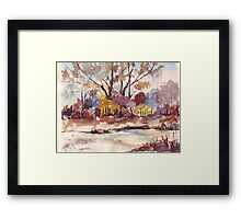 View across the road Framed Print