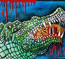 Crocodile Lollipop - Morbid Fantasy Art by Laura Barbosa