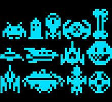 8Bit Space Trip (Print) (RIPT Alt Colors) by UnsoundM