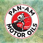 Retro Pan-Am Motor Oils Sign Reproduction by JohnOdz