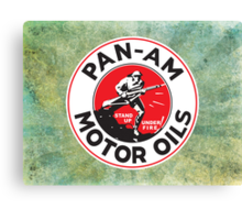 Retro Pan-Am Motor Oils Sign Reproduction Canvas Print