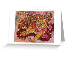 Leopard and Snake Greeting Card