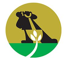 Gardener Landscaper With Shovel Digging Plant by patrimonio