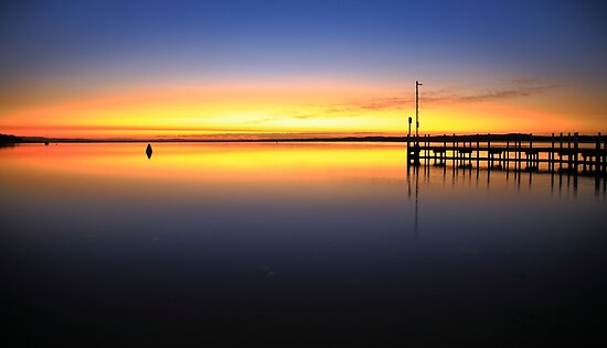 sunrise, inverloch jetty. coastal victoria by tim buckley | bodhiimages