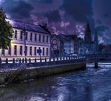 Night Storm - The City of  Cork, Ireland by Mark Richards