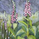 Foxgloves in pastels by © Pauline Wherrell