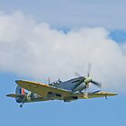 Flypast - Spitfire Mk IX MH434 by Colin J Williams Photography