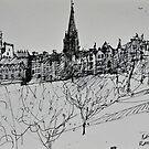 Edinburgh skyline by Peter Lusby Taylor