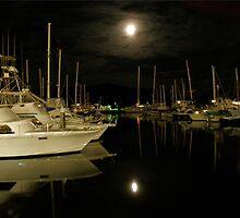 Moonlit Marina by luaphoto