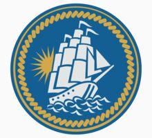 Sailing Tall Ship Galleon Retro T-Shirt