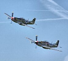 Twin P51s - In Syncro by Colin  Williams Photography
