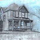 A 1907 Photo Plate of The Mowery House by David M Scott