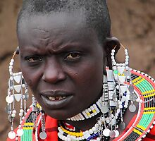 Maasai Woman by Carole-Anne
