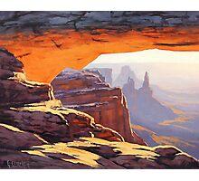 Canyon Sunrise Painting Photographic Print
