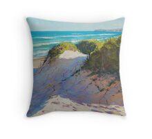 Beach Dunes Painting Throw Pillow