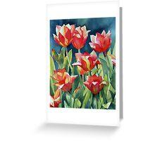 Sunlit Tulips enhanced Greeting Card