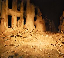 Ruins after Bombing from Above by Megas