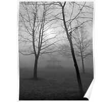 Foggy Morning in the Park Poster