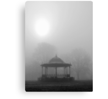 Bandstand in the Morning Mist Canvas Print
