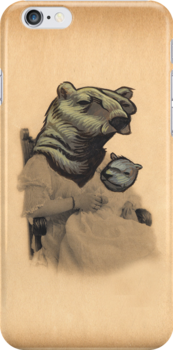 Vintage Bear Lady and Cub by darickmaasen