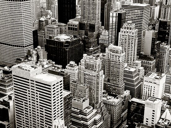 New York City Skyscrapers From Above by Vivienne Gucwa