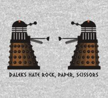 Daleks Hate Rock, Paper, Scissors... by Buddhuu