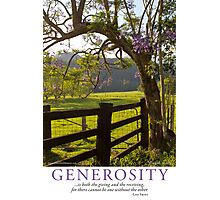 Generosity Photographic Print