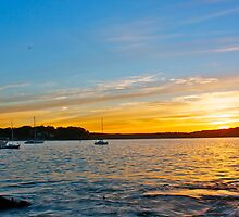 Port Hacking Sunset. by David Kennedy