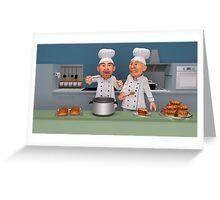 Too Many Cooks 4 - The Taste Test Greeting Card