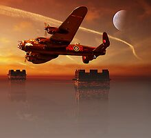 Lancaster,s AT Derwent Dam by Nigel Hatton, Derwent Digital Imaging