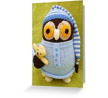 Hand Knitted Owl Greeting Card