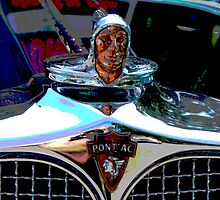 Pontiac Indian Chief Hood Ornament by Tina Hailey