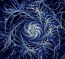 Spiral In - Blue Lightning - Abstract by Doug Greenwald