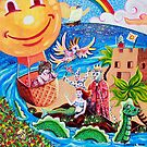 'In a Balloon over Enchanted Isle' by Jerry Kirk