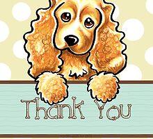 Cocker Spaniel Polka Dots Thank You by offleashart