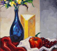 Still Life with Blue Bottle by Eric Westbrook by Terry  Berman