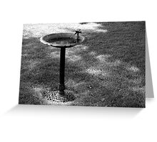 Birdbath Greeting Card
