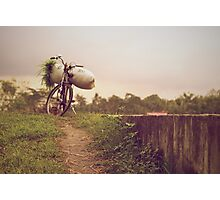 A Farmer's Bike Photographic Print