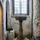 Michelham Priory ( 6 ) The Font by Larry Lingard-Davis
