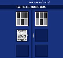 Tardis Music Box Case by Lyndsay Brown