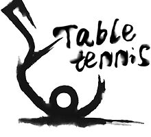 【3300+ views】Table tennis in Chinese brushing drawing style by Shaojie Wang