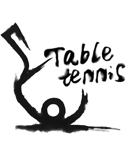 【4300+ views】Table tennis in Chinese brushing drawing style by Ruo7in