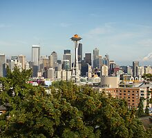 Seattle Skyline and Mount Rainier by Philip Kearney