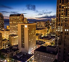 Seattle at night by Philip Kearney