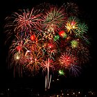 Freedom Fourth Fireworks Show - Albuquerque, New Mexico by TheBlindHog