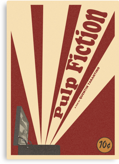 Pulp Fiction Movie Poster by northcott-orr